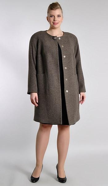 Демисезонные пальто больших размеров для женщин (фото) 7a7a9c05369ef