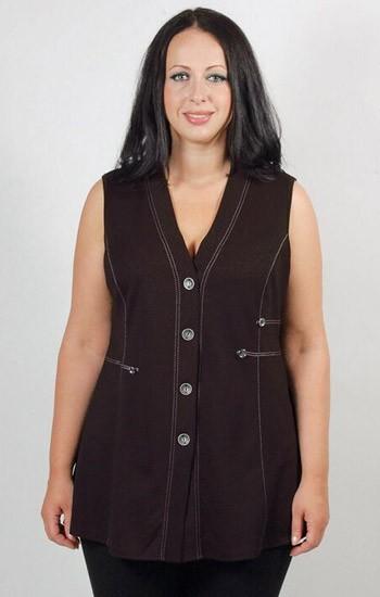 женские жилеты больших размеров популярные фасоны и материалы