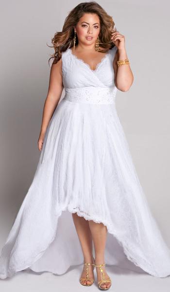 Свадебные платья для полных девушек (40 фото): длинные и короткие фасоны